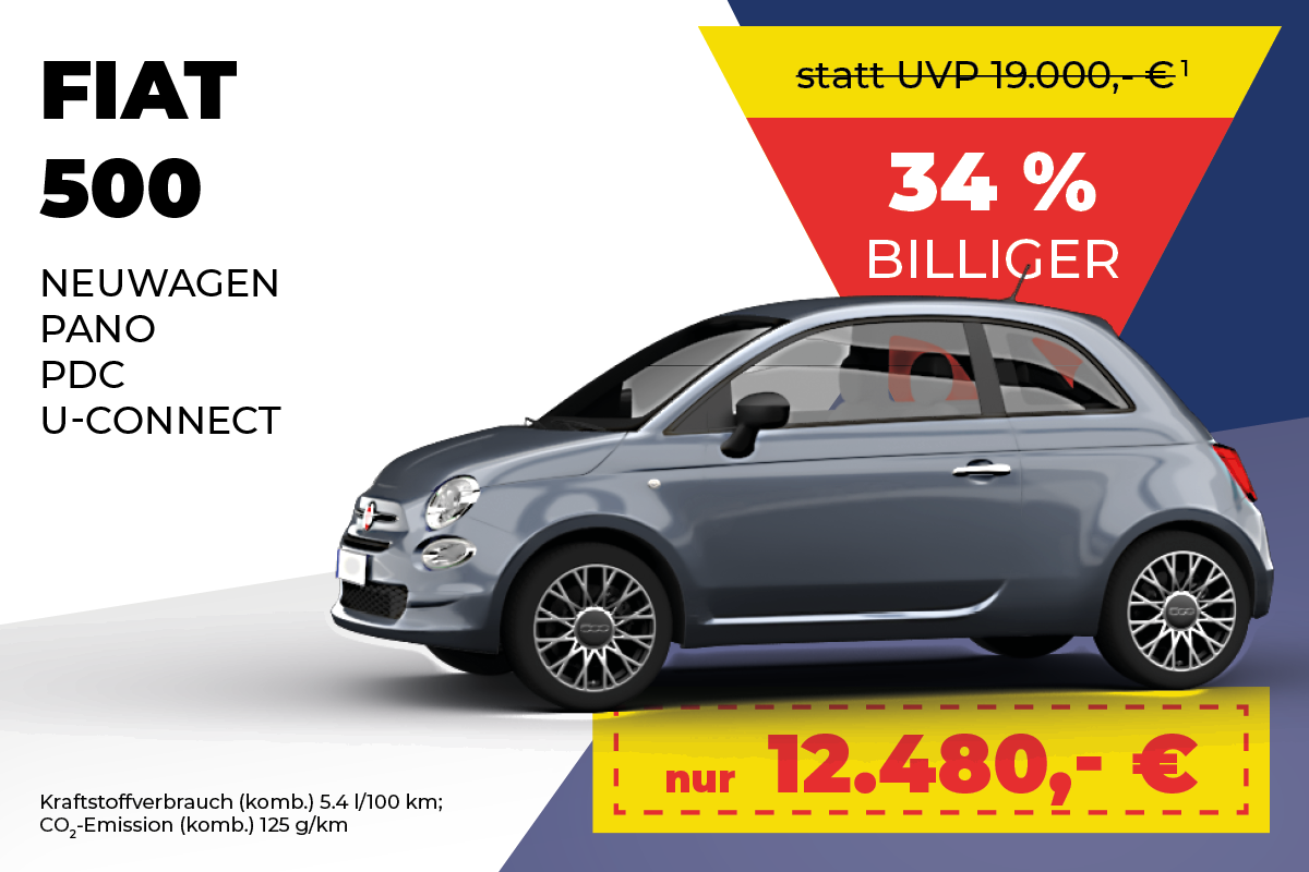Fiat 500 Bestpreis-Angebot bei Meyer Automobile GmbH & Co. KG